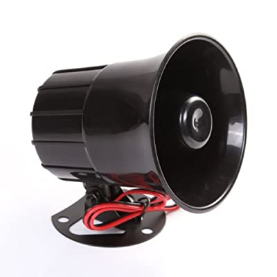 Wen&Cheng 12V Siren Air Horn Speaker for Car Auto Van Truck PA System15W Loud Electric Alarm