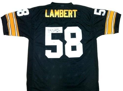 Jack Lambert Autographed/Signed Pittsburgh Steelers Mitchell & Ness Throwback NFL Jersey with