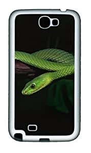 2013 Green Snake Desktop Personalized Samsung Galaxy Note 2/ Note II/ N7100 Case and Cover - pc - Black