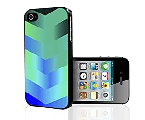 Teal Gradient Arrows Hard Snap on Phone Case (iPhone 5/5s)