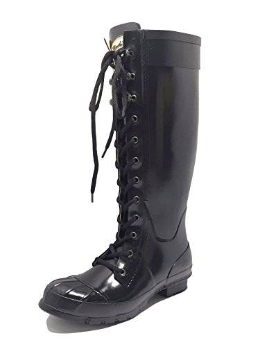 3 4 Wellies Completamente Taglia Equestrian Outdoor Rockfish Knee 7 Nero Festival Boots Lacey Country Long Wellington 8 6 Ladies amp; Equitazione Durable Impermeabile Handmade Tall High Womens 5 BH1qCwB