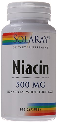Solaray Niacin Capsules, 500 mg, 100 Count