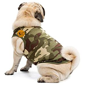 Sage Square Premium Dog Winter Ultra Warm Camouflage Army Coat Thicker Fleece Dog Hoodie Vest for Cold Weather (Size…