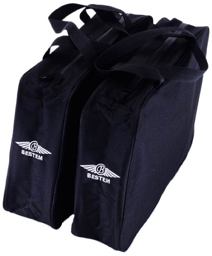 Hard Saddlebag Liners (Bestem LGHD-FTBOY-SD1 Black Hard Saddlebag Liners for Harley Davidson Softail, Pair)
