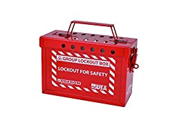 Oberon LOTO-LOCKBOX LOTO Group Lock Box, Red