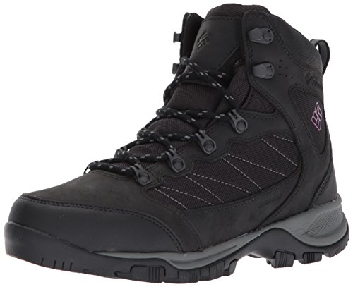 Columbia Women's Cascade Pass Waterproof Hiking Boot, Black, Intense Violet, 9.5 Regular US by Columbia