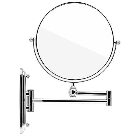 Spaire miroir mural miroir grossissant x 7 miroir maquillage 8 pouces extension pliant double - Miroir grossissant salle de bain mural ...