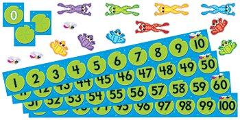 Frog Pond Number Line - 6 Pack TREND ENTERPRISES INC. FROG POND NUMBER LINE BB SET