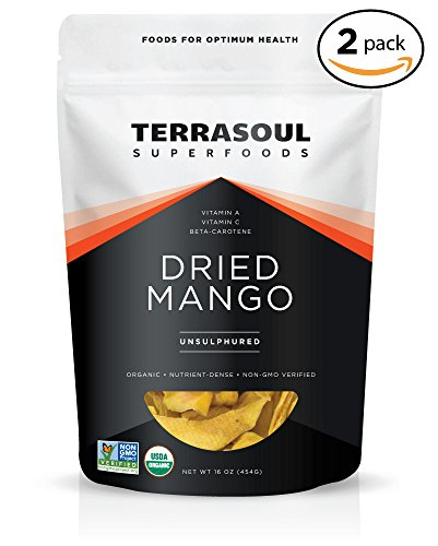 Terrasoul Superfoods Organic Mango Slices, 2 Pounds -