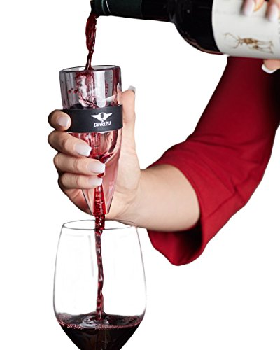 Aerator Wine Vinturi Red (Wine Aerator Pourer, Decanter Filter, Air Diffuser - by Direct2U)