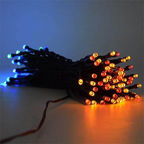 Glumes Solar Fairy String Lights 50 LED Outdoor Sensor Waterproof Solar Powered 2 Modes with Automatic Sensor Decorative Lighting for Patio Xmas Garden Homes Party Decore from Glumes