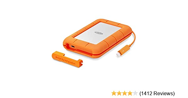 LaCie Rugged Thunderbolt USB-C 1TB SSD Solid State Drive Portable – USB 3 0  compatible, Drop Shock Dust Water Resistant, Mac and PC Computer Desktop