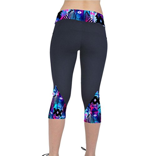Yoga Pants for Womens, FORUU High Waist Fitness Sport Printed Cropped Leggings