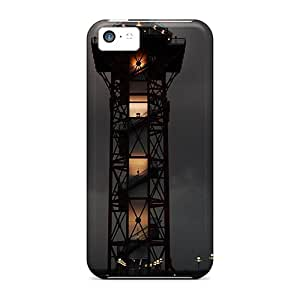 Tough Iphone QHk13285ldsb Cases Covers/ Cases For Iphone 5c(modern Lighthouse In A Storm)