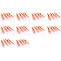 10 x Quantity of Hubsan X4 H107C+ PLUS Transparent Clear Orange Propeller Blades Props Rotor Set 55mm Factory Units
