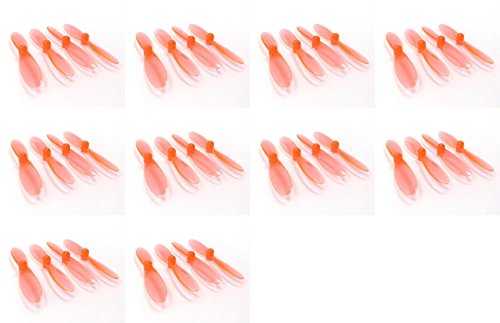 10 x Quantity of Revell QG 550 Mini Quadrocopter Transparent Clear Orange Propeller Blades Props Rotor Set 55mm Factory Units