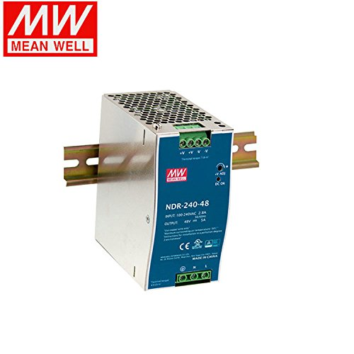 MEAN WELL NDR-240-48 Single Output 240W 48V 5A Industrial DIN Rail Mounted Meanwell Power Supply