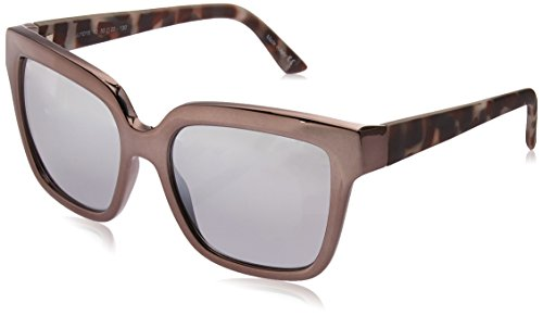 Joe's Jeans Women's JJ 1015 Modified Cat Eye Fashion Designer Sunglasses Cateye, Black Frame, 130 ()