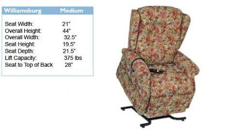 Golden Technologies Williamsburg Lift Chair: Color - (Williamsburg Bouquet)