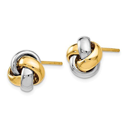 Leslie's 14k Two-tone Polished Love Knot Earrings by Jewels By Lux (Image #1)