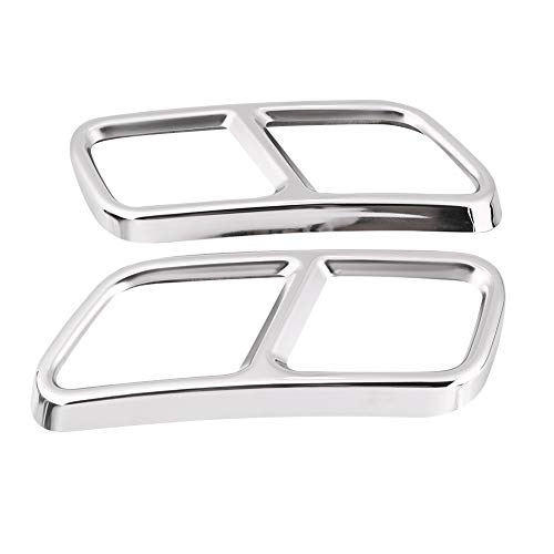 Best-ycldcyp 1 Pair Rear Exhaust Pipe Cover Trims for Mercedes Benz GL X166 13-15 S R Class W222 W251 ()