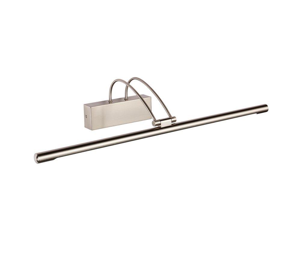 MIAOLIDP LED Spiegel Scheinwerfer wasserdicht Nebel energiesparende Badezimmer Lampe Badezimmer spiegelschrank Make-up Lampe Schminktischlampe (Farbe   Nickel, Größe   65cm)