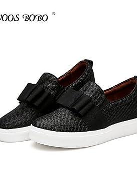 LEI & LI Zapatos Mujer Lentejuelas Plato innovador/Punta Redonda Mocasines Tiempo Libre/vestir