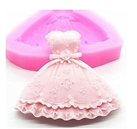 Hemore Princesa Vestido Silicona Fondant Cake Molde Chocolate Baking Sugarcraft: Amazon.es: Hogar