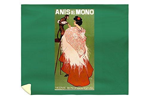 Anis del Mono Vintage Poster Spain (88x104 King Microfiber Duvet Cover) by Lantern Press