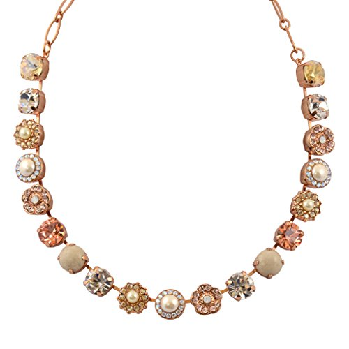 Mariana Kalahari Rose Gold Plated Large Necklace, 18'' 3084 1078 by Mariana