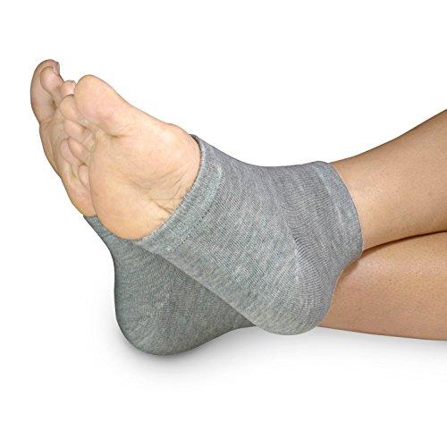 3 PAIRS-Moisturizing Gel Heel Socks w/ Enriched Vitamins for Dry Hard Cracked Heels & DIY Simple Home Remedies by Triim Fitness by Triim Fitness (Image #9)