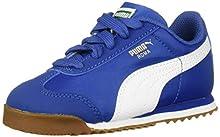 PUMA Baby Roma Basic Sneaker, Galaxy Blue White, 9 M US Toddler