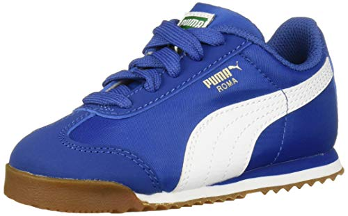 PUMA Unisex Roma Basic Sneaker, Galaxy Blue White, 13.5 M US Little Kid (For Puma Shoes Girls)