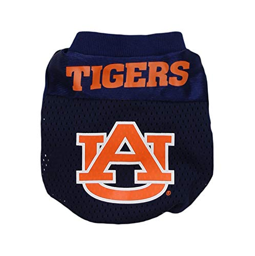 Sporty K9 Collegiate Auburn Tigers Football Dog Jersey, XX-Small