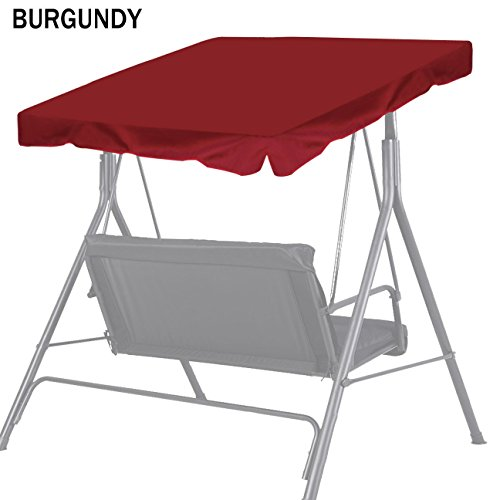 Strong Camel New Patio Outdoor 77'x43' Swing Canopy Replacement Porch Top Cover Seat Furniture (Burgundy)
