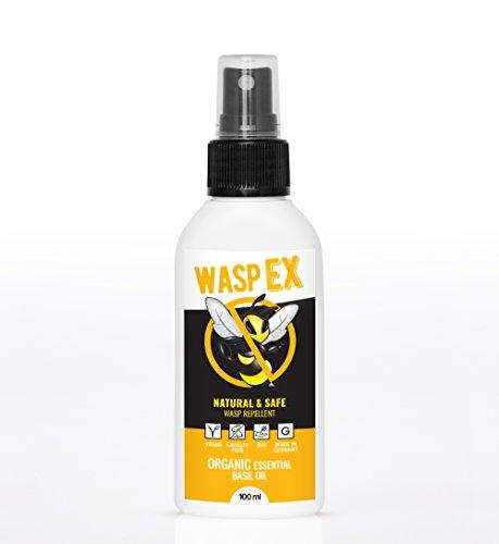 Wespenspray WaspEX   100% Bio Wespenschutz mit Basilikumöl   Natürliche Alternative zu Wespenfalle oder Wespengift Spray   Effektive Wespenabwehr