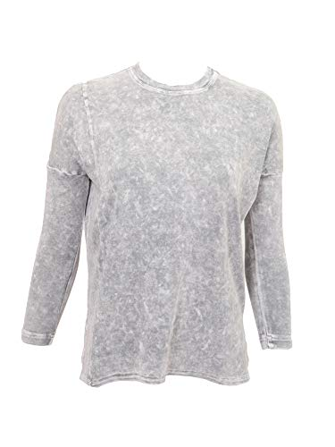 Hard Tail Long Sleeve Womens Slouchy Tee-Shirt with Side Slits Style T-212