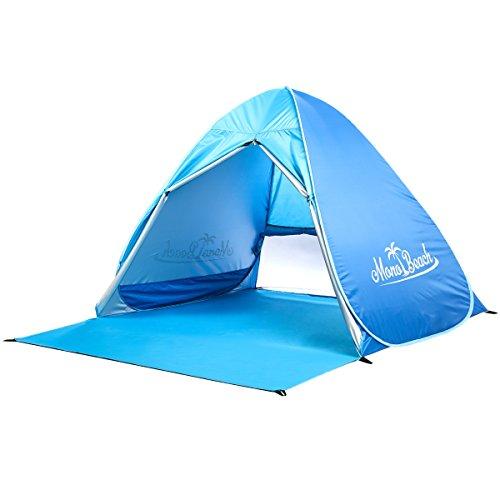 Monobeach Baby Beach Tent Automatic Pop Up Shade Cabana Portable UV Sun Shelter