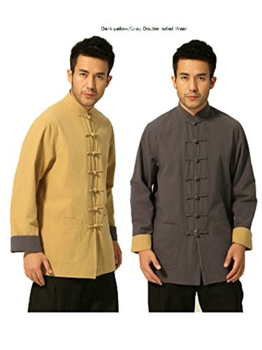100% Cotton Tang Suits Double-sided Wear Retro Jackets Coats Business Jackets Full Dress by Double-sided Wear Tang Suit