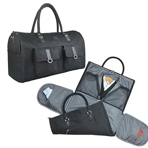 2 in 1 Convertible Travel Garment Bag Carry On Suit Bag Luggage Duffel (2019 NEW)