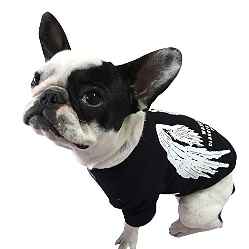 Petea Pet Dog Clothes Dog Cat Angel Wing Cotton T-Shirt Clothes Puppy Summer Apparel for Dogs and Cats