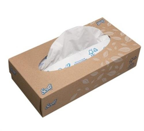 Scott Facial Tissue Box, Pop-Up Hand Tissue (100 Sheets, Pack of 60 Rolls) 1120 by Kimberly-Clark