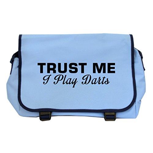 Trust Me I Play Darts Messenger Bag–Sky Blau x4lHxF3