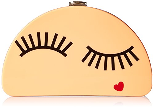 MILLY Solid Eyelash 1/2 Moon Clutch, Multi by MILLY