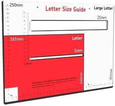 BLACK ROYAL MAIL PIP POSTAGE SIZE GUIDE RULER Letter Large Letter Post Office
