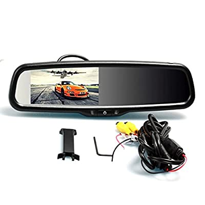 "I-Max 4.3"" TFT Car Auto LCD Screen Rear Monitor Auto Adjust Brightness Car Rear View Mirror Monitor of General Parking Assist System from The Rear View Camera Center"