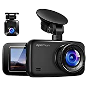 #LightningDeal APEMAN 1440P&1080P Dual Dash Cam FHD Front and Rear Camera for Cars, Support 128GB max, Driving Recorder with IR Sensor Night Vision, Motion Detection, G-Sensor, Parking Monitor