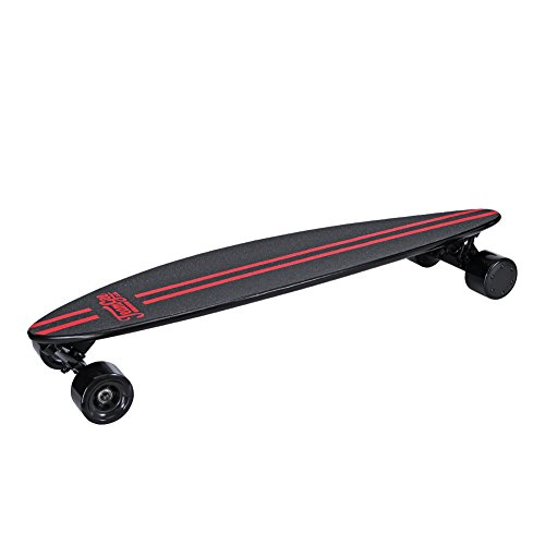 Teamgee Electric skateboard | Great Last Mile Vehicle Solution | 37 Inch Pintail Longboard |11 Ply Maple Deck | 10 Miles Range | 18.5 MPH | Vlogger's Best Companion