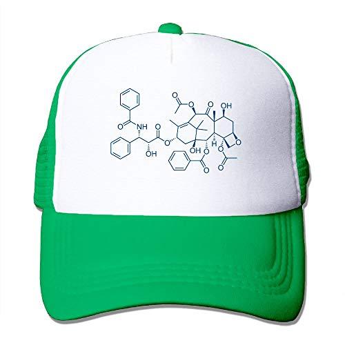Mesh Baseball Caps Chemical Formula Trucker Hats Grid Adult Adjustable Sunshade Hat
