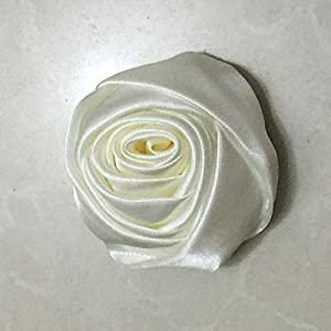XGM GOU 10Pcs/Lot Handmade Dia 5.5Cm Fabric Satin Rose Flowers Artificial Flower DIY for Bridal Bridesmaid Wedding Bouquet Accessoires 7